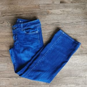 American Eagle Faded Stretch Slim Bootcut Jeans 12